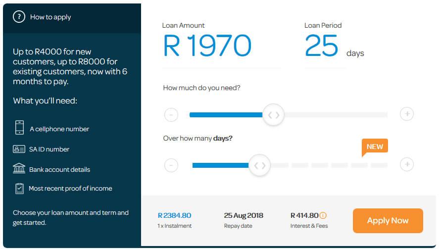 Wonga Loans Calculator